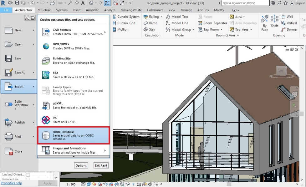 Export a File from Excel to Revit Software