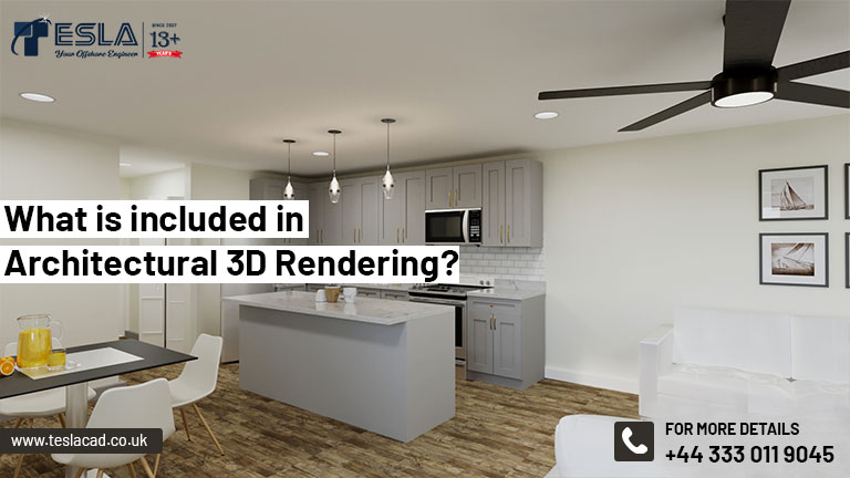 What is included in Architectural 3D Rendering?