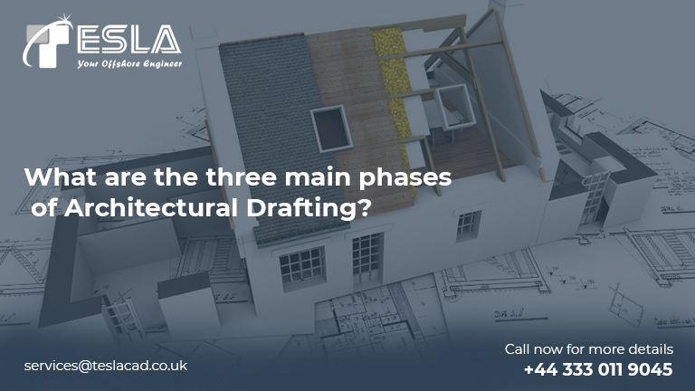 What are the three main phases of Architectural Drafting?